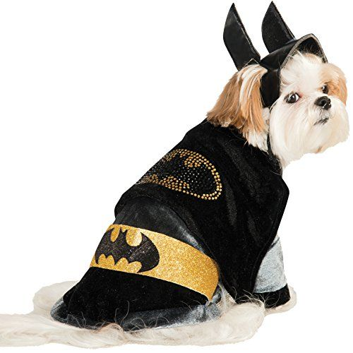 Uhc Batman Rhinestone Cape Dc Comics Superhero Puppy Halloween Pet Dog Costume M Batman Dog Costume Pet Halloween Costumes Dog Costumes