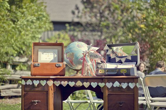 A Vintage Travel Inspired DIY Wedding by Young Hearts Photography
