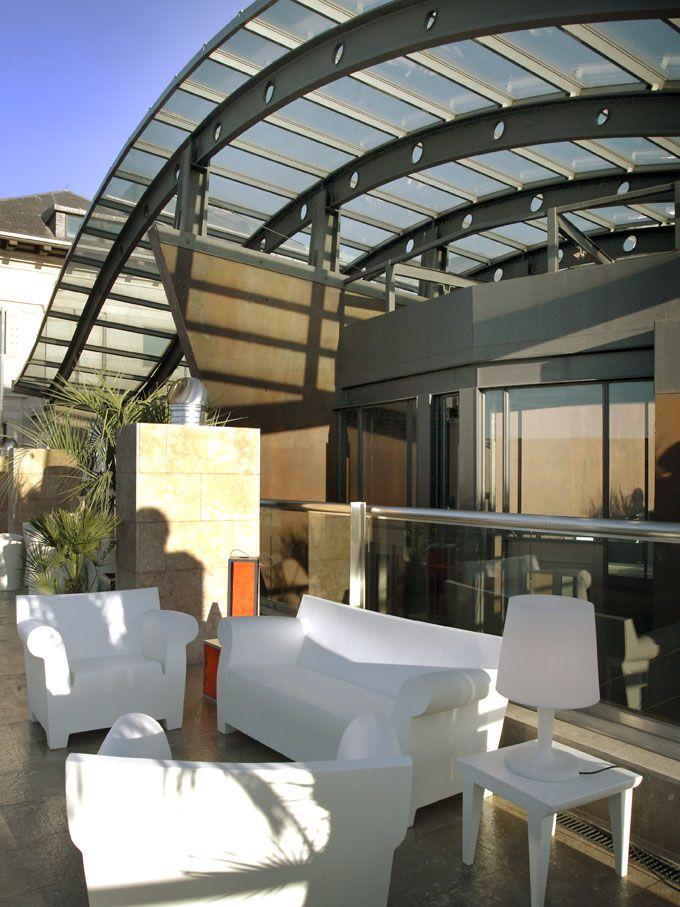 La Terraza Del Urban Madrid Restaurant Urban Hotel Areas De Descanso Exteriores Galerias De Fotos Hotel