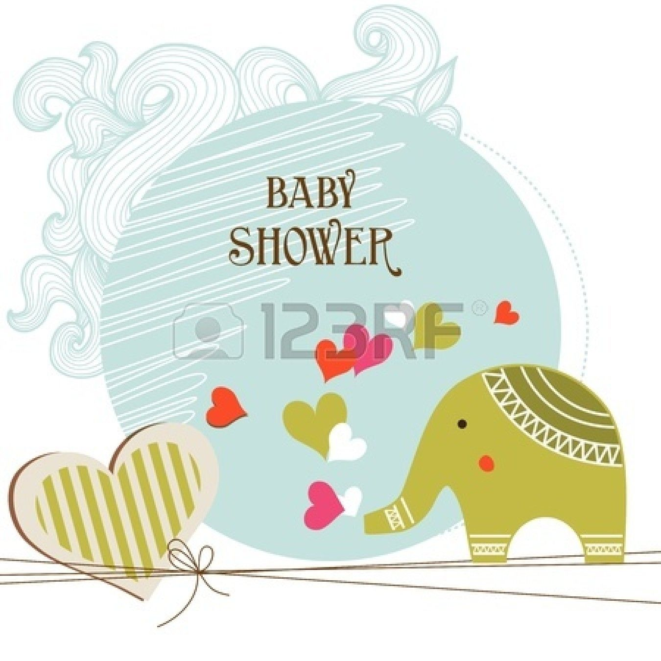 Baby Shower Card Template Stock Vector  Baby Is Here