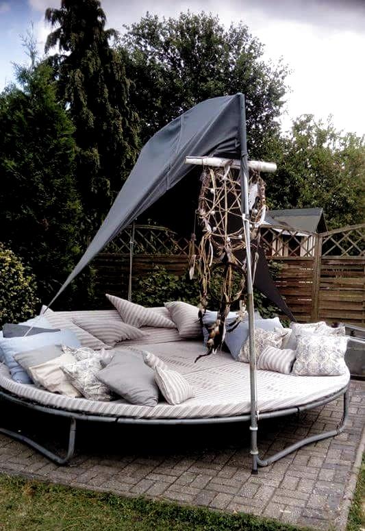 Pin By Annika Grosse On Garten In 2020 Old Trampoline Backyard Trampoline Trampoline