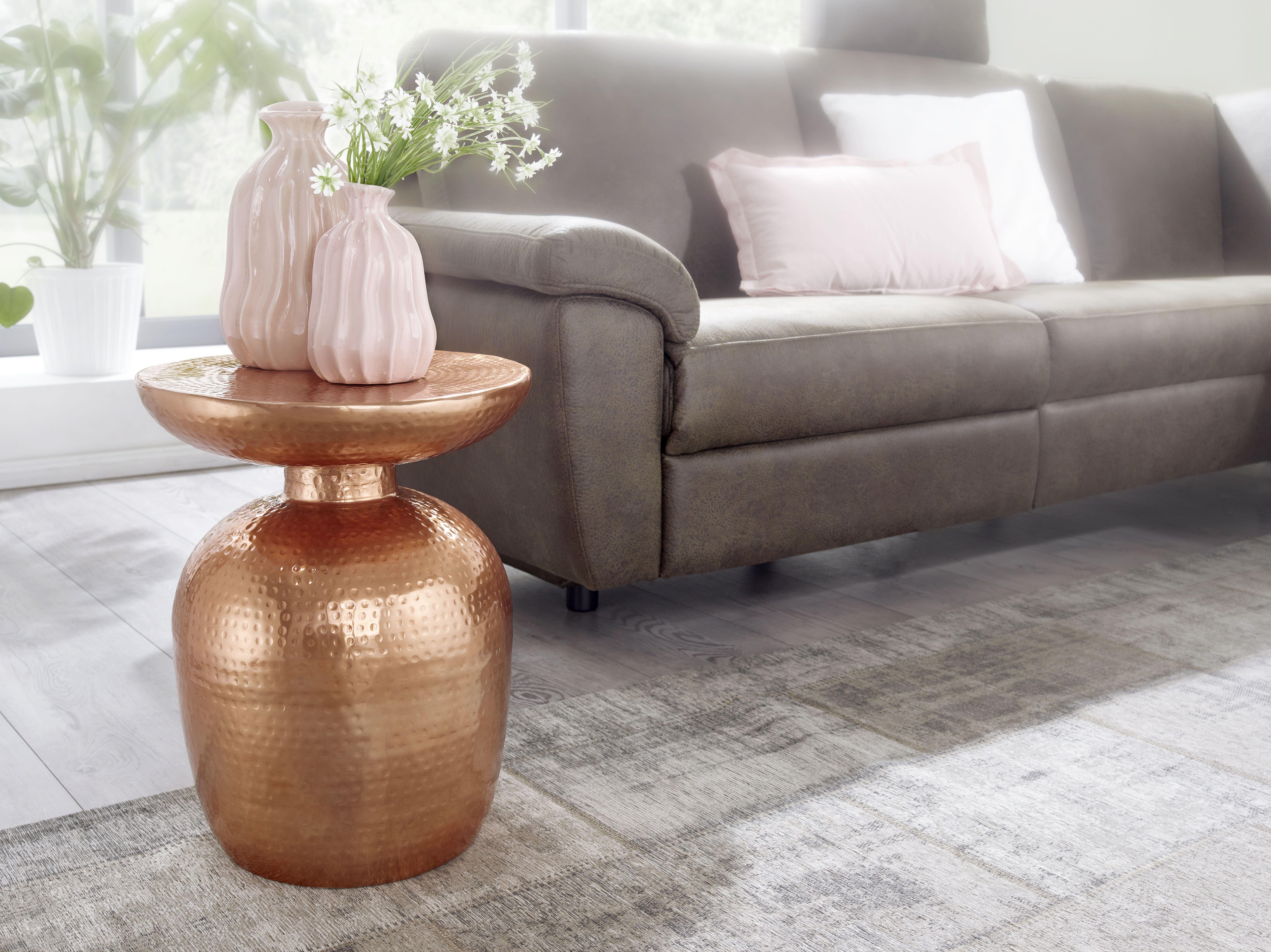 Kupfer Metall Blumentisch Ablage Vasenform Dekotisch