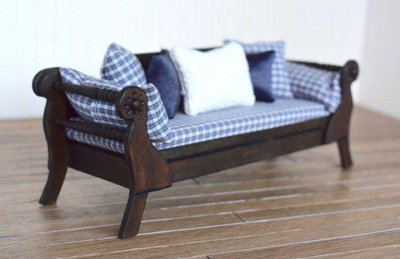 Mu ecas de escala 1 12 casa vestido sof cama pa s for Muebles encantadores del pais elegante
