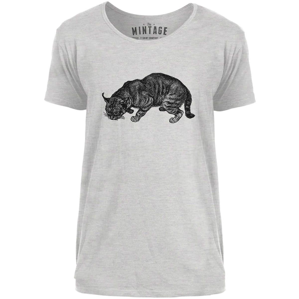 Mintage Safari Cat Mens Scoop Neck T-Shirt