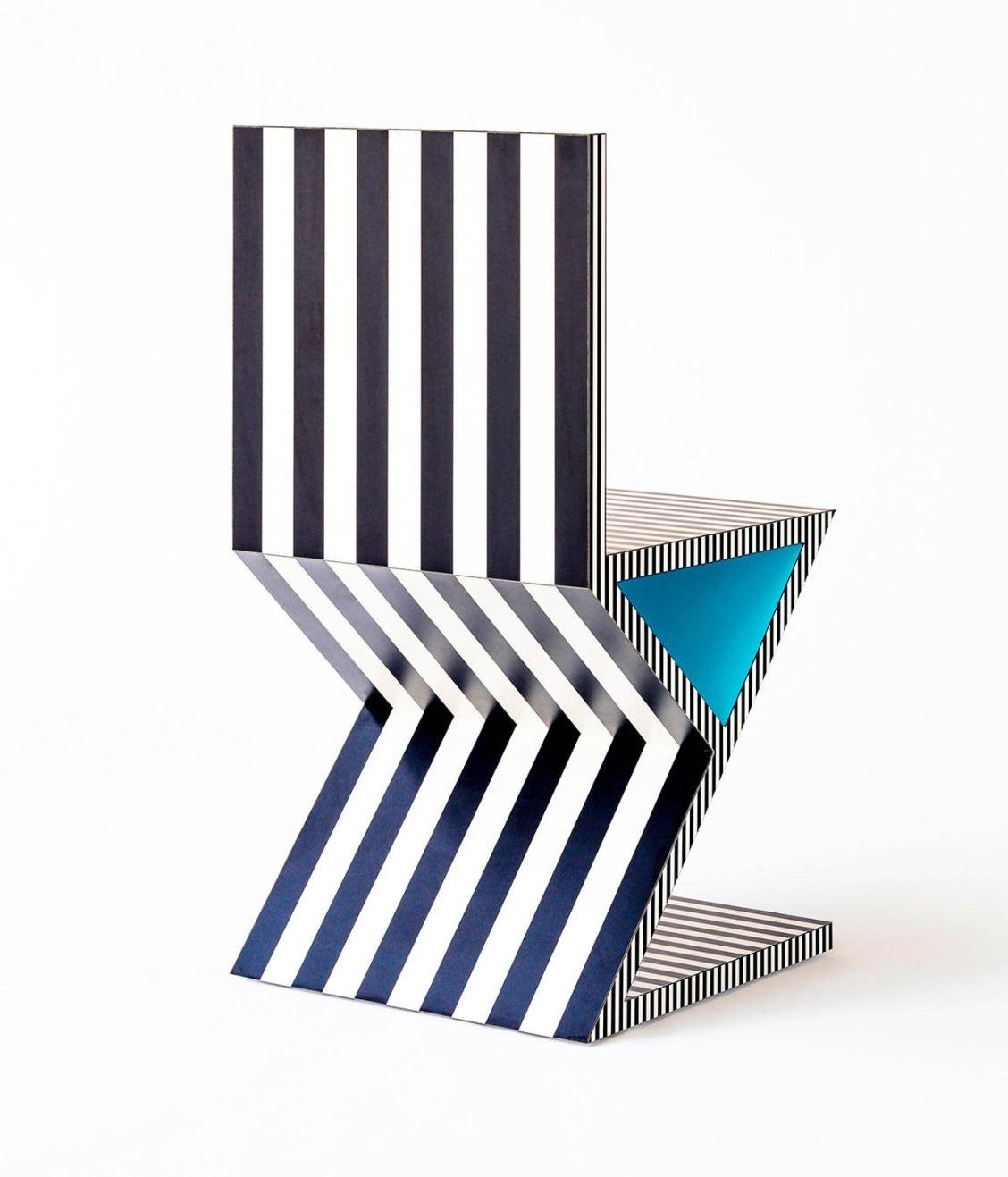 Contemporary Furniture Memphis: Memphis Inspired Chair, Neo Laminati Collection