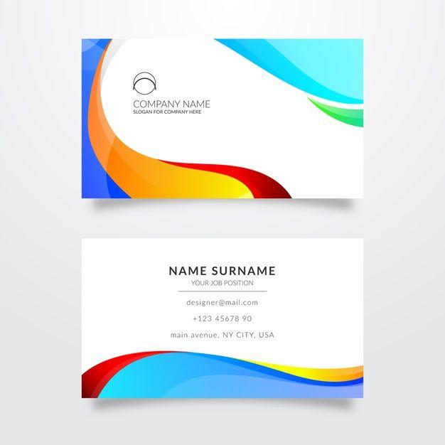 Plantilla para tarjeta de visita con col  Premium Vector