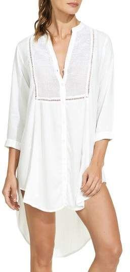 ViX Womens White Chemise Tunic