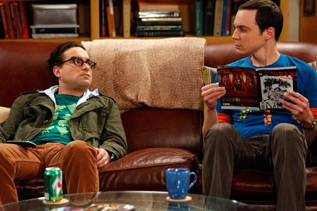 Astounding Red Leather Couch Big Bang Theory House For A Nerd Sofa Theyellowbook Wood Chair Design Ideas Theyellowbookinfo