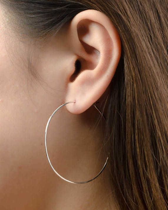 Gold Filled Earrings Large Hoop Earrings Thin Hoop Earrings Simple Hoop Earrings Thin Gold Hoop Earrings Minimalist Jewelry