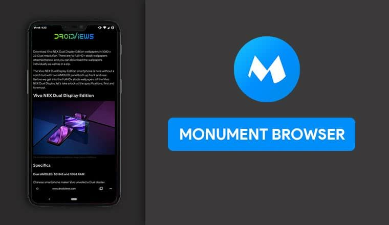 Monument Browser - Enjoy Privacy, Dark Mode & No Ads | Cool