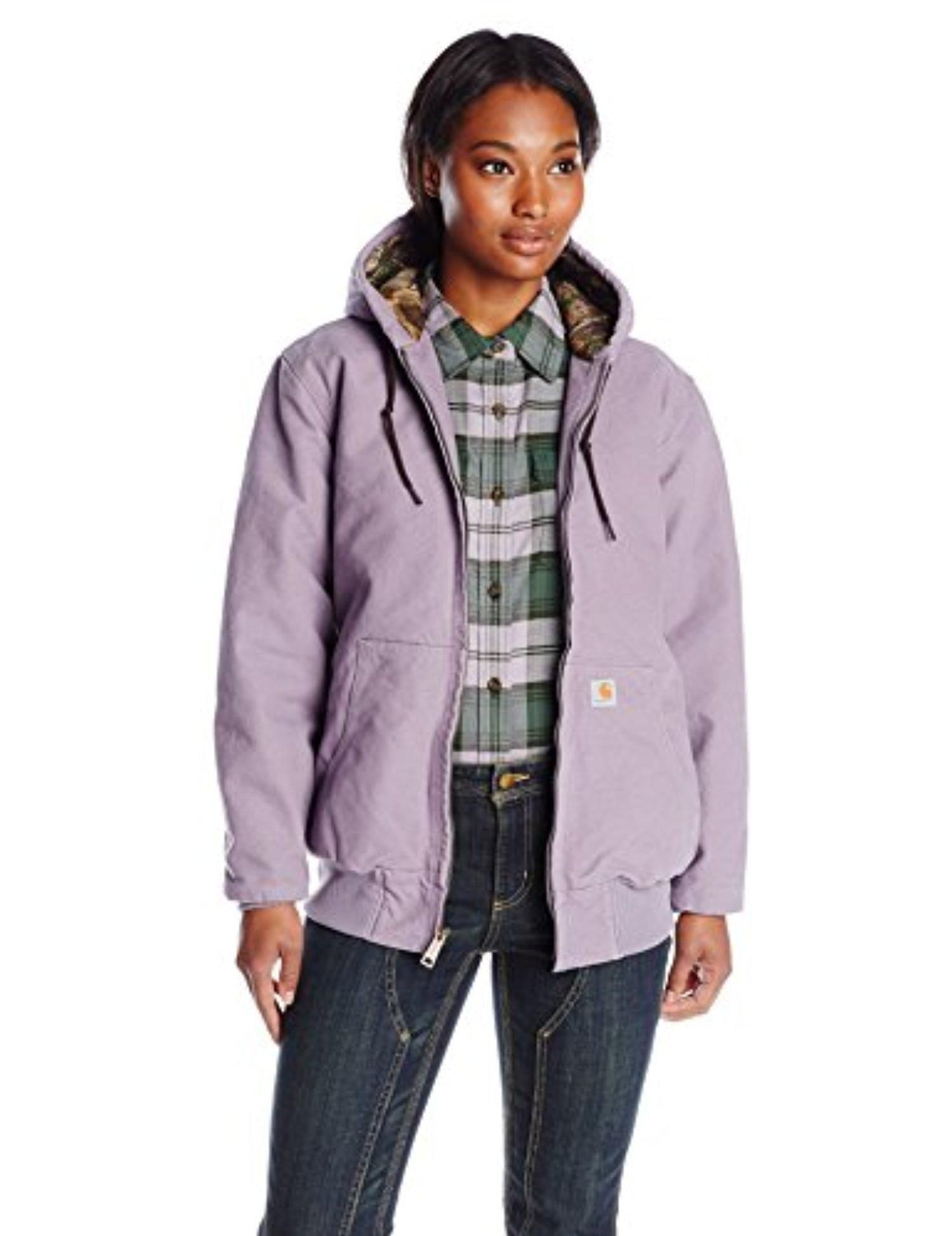 9a5f50a7b0544 Carhartt Women's Sandstone Active Jacket Camo Lined, Purple Sage, Large -  Brought to you by Avarsha.com
