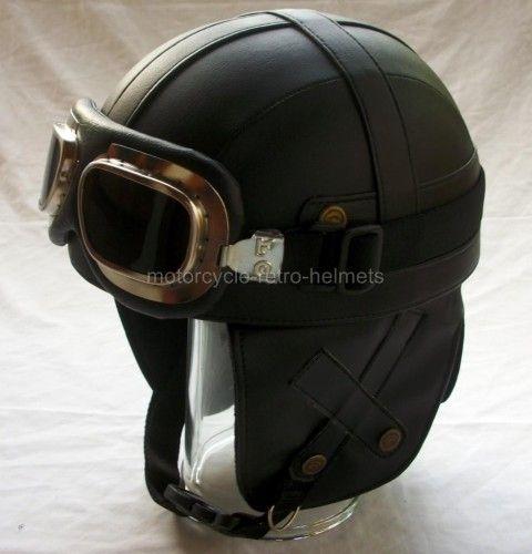 Outrider Retro Leather Motorcycle Helmet Sadly Not Dot Rated Leather Motorcycle Helmet Motorcycle Helmets Vintage Helmet
