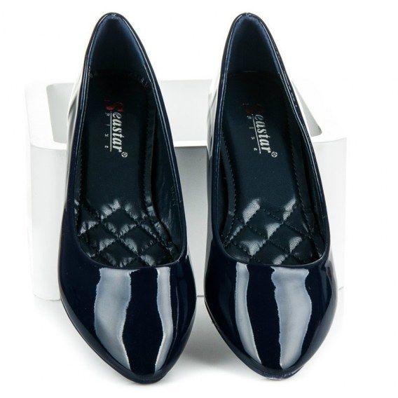 Baleriny Angela Granatowe Piekne Lakierowane Balerinki Angela Idealne Na Sezon Wiosna X2f Lato Swietnie Sprawdza Sie U Kobiet Lubiac Shoes Loafers Fashion