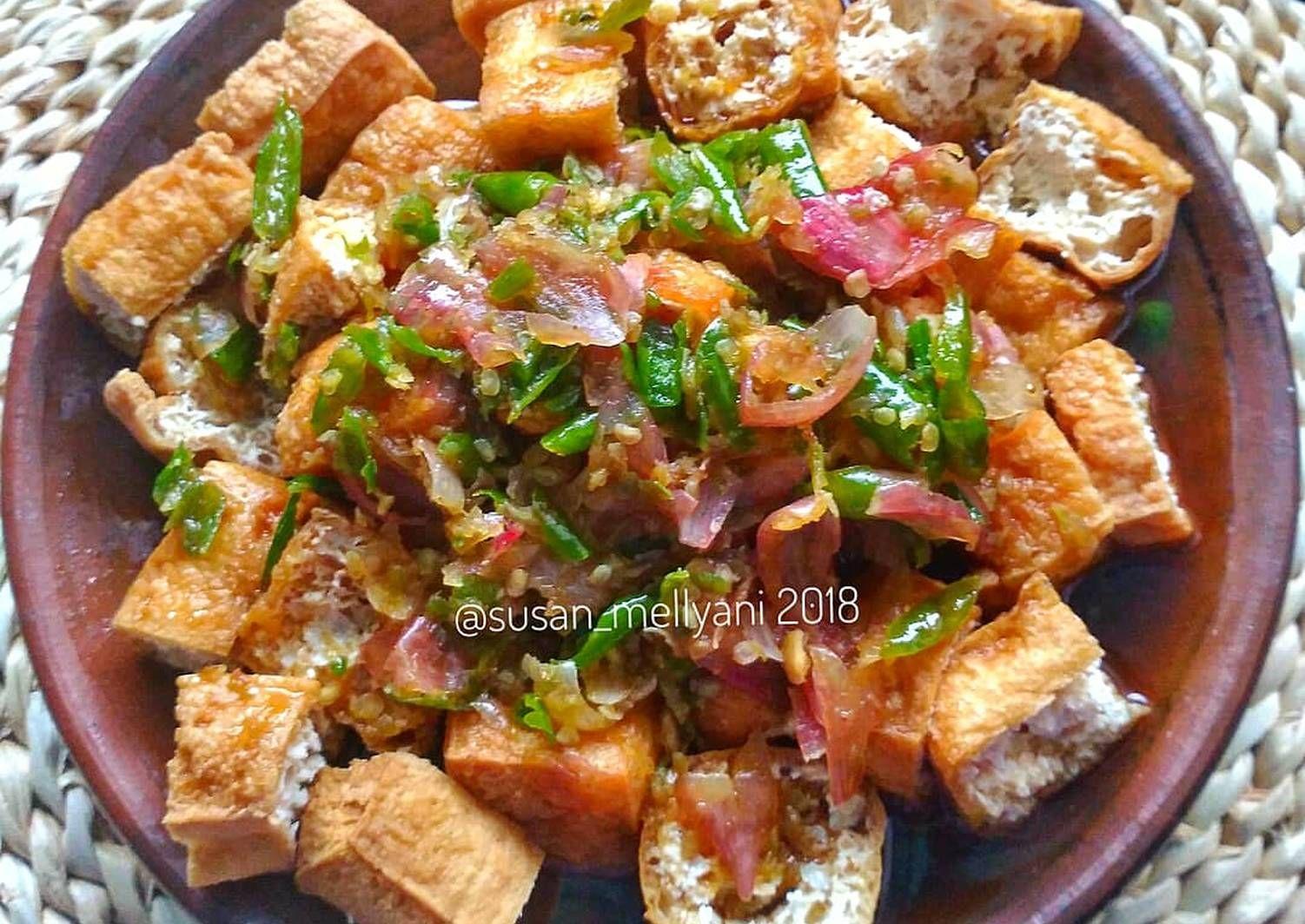 Resep Tahu Gejrot Oleh Susan Mellyani Resep Resep Tahu Resep Masakan Resep Vegetarian