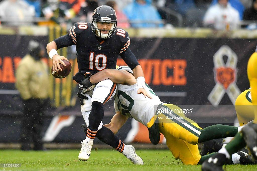 News Photo  Chicago Bears quarterback Mitchell Trubisky NFL