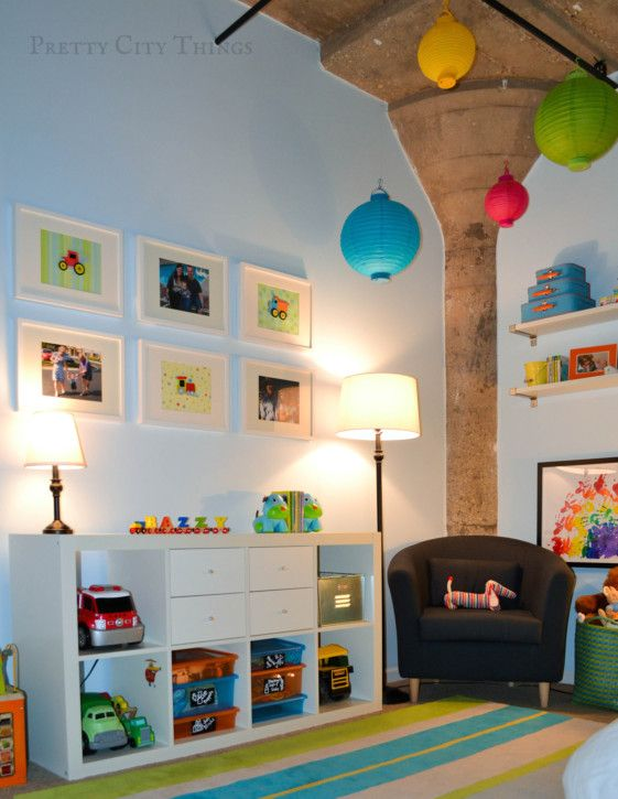 Sebastian 39 s colorful big boy room boys room and doors - Boy kids bedrooms ...