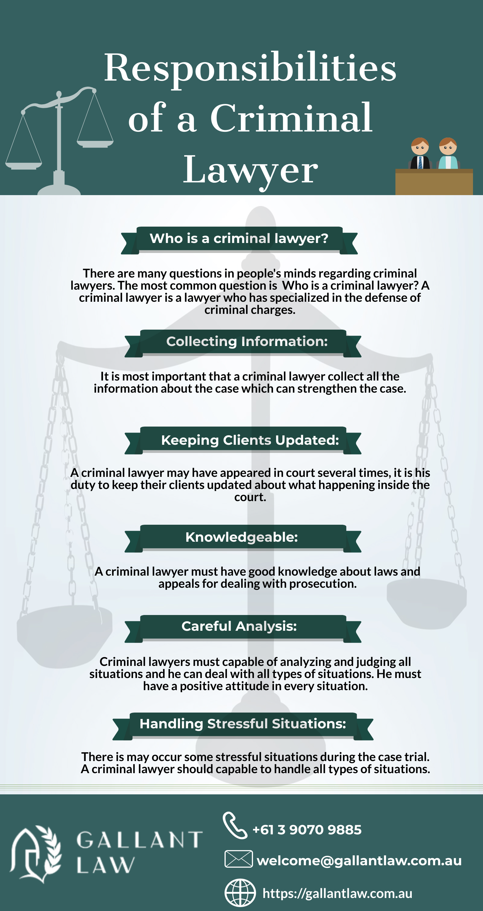 Responsibilities Of A Criminal Lawyer In