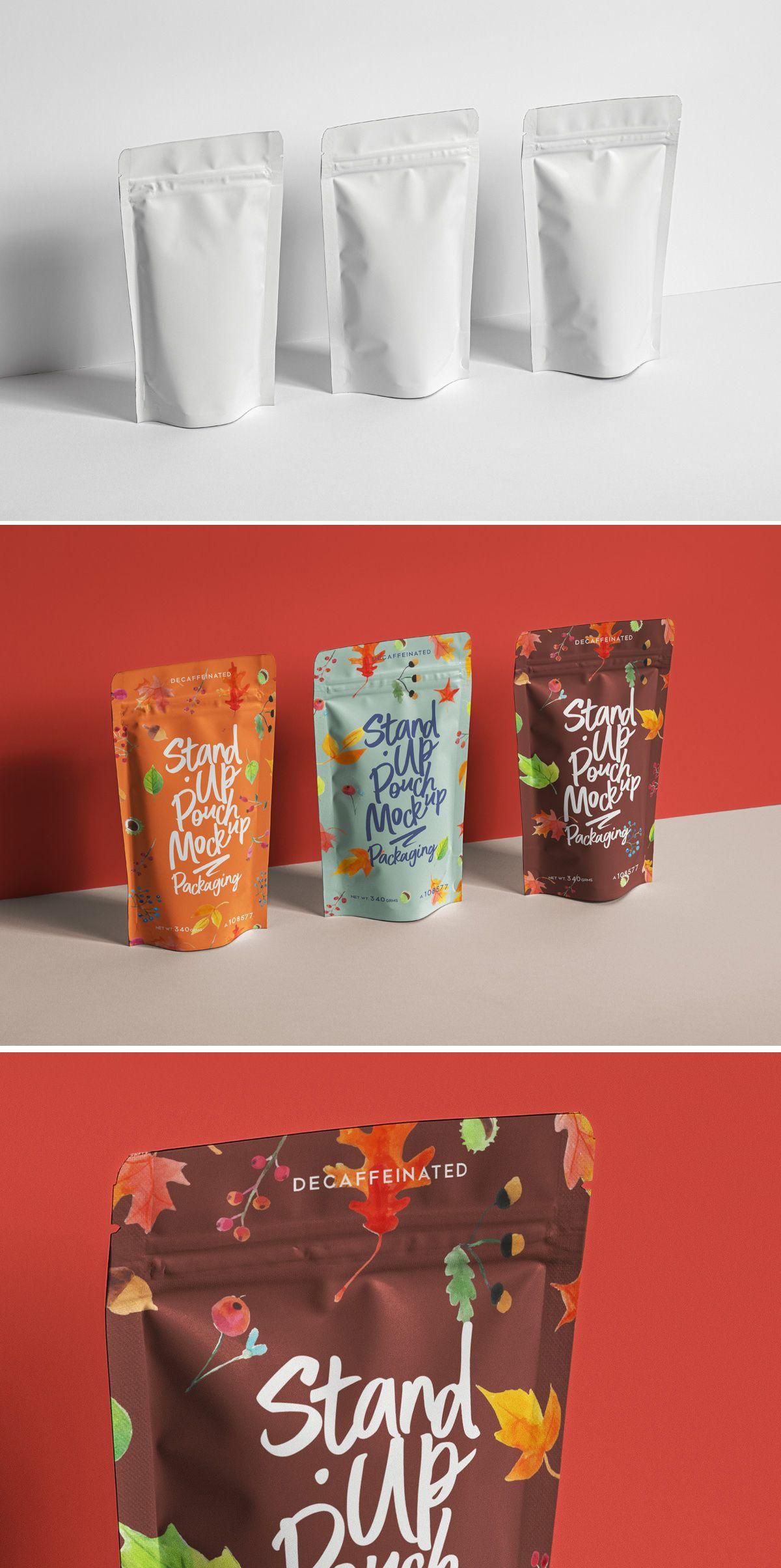 Free Pouch Packaging Mockup Psd Kemasan Produk Desain Kemasan Makanan Ide Kemasan