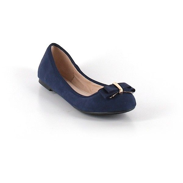 Pre-owned Aldo Flats Size 5 1/2: Dark Blue Women's Shoes (
