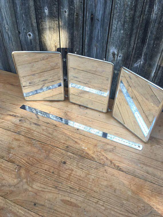 Miroir de Barbier Triptyque Miroir Biseauté Miroir  suspendre
