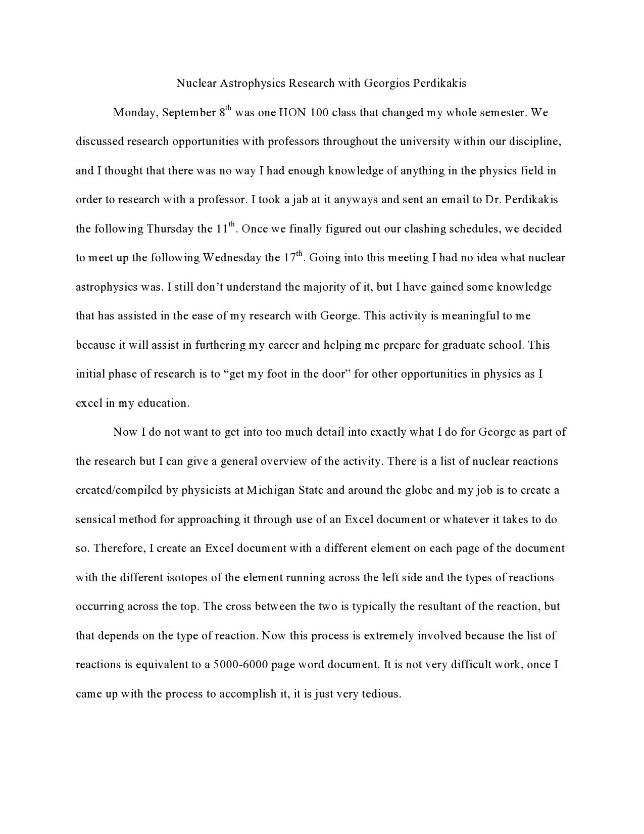 Page 1 Of Reflection Memories Essay Essay On Education Types Of Essay