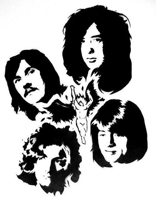 Led Zeppelin Clipart : zeppelin, clipart, Zeppelin, Stencil