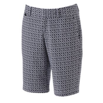 Dockers Geometric Twill Bermuda Shorts - Women's Kohls sale 24.99