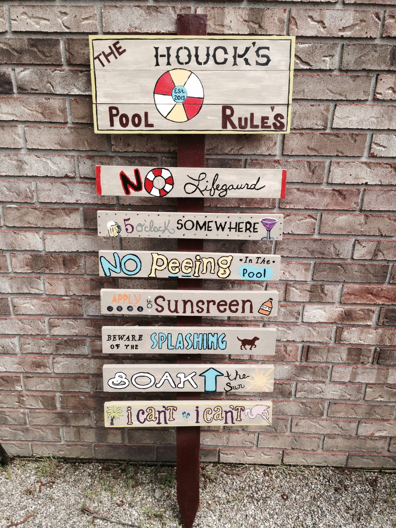Pool Sign Crafty Projects For The Home Pinterest