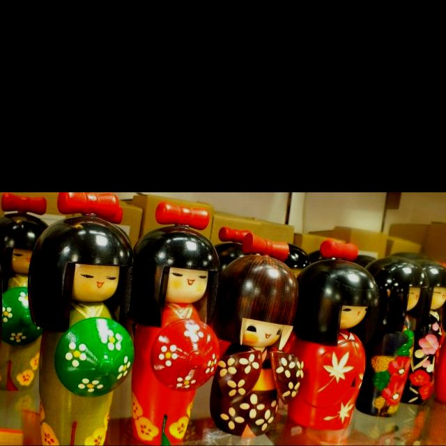 Kokeshi dolls! I am currently stationed in Japan, and think these dolls are super cute!