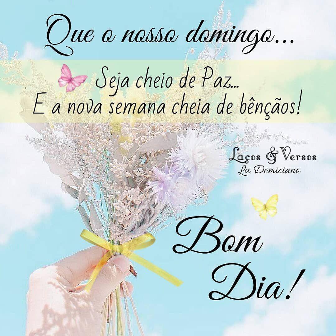 Bomdia Domingo Semana Paz Bencaos Mensagens Reflexao Frases
