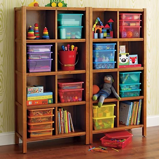 The Land Of Nod Kids Bookcases Kids 8 Cube Honey Wooden