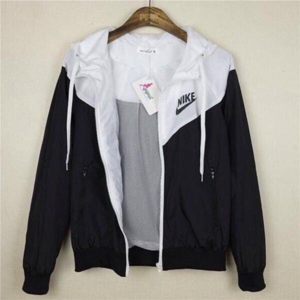 b3ded1a831c9 jacket nike black and white sportswear active women nike windbreaker  windbreaker…