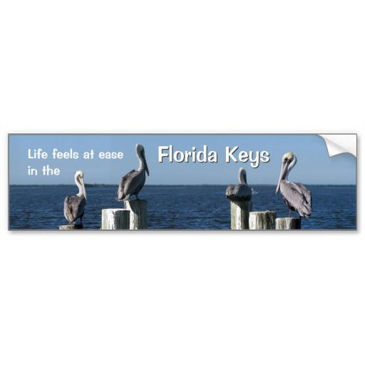 Shop life feels at ease in the florida keys bumper sticker created by personalize it with photos text or purchase as is