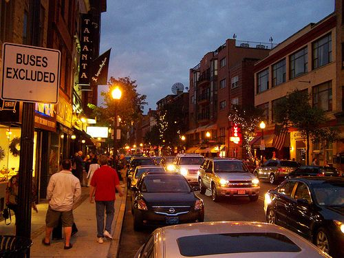Hanover Street North End Boston Italian Section Of The City With