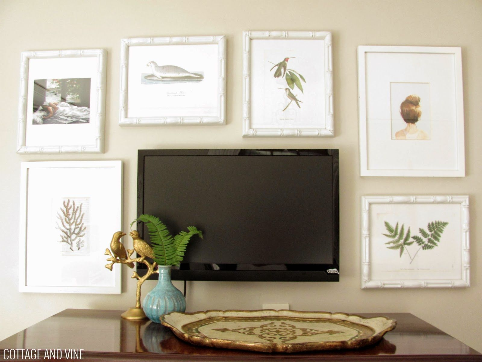 TV Wall Decorating Ideas Pictures Flat TV Mounted On Light Brown