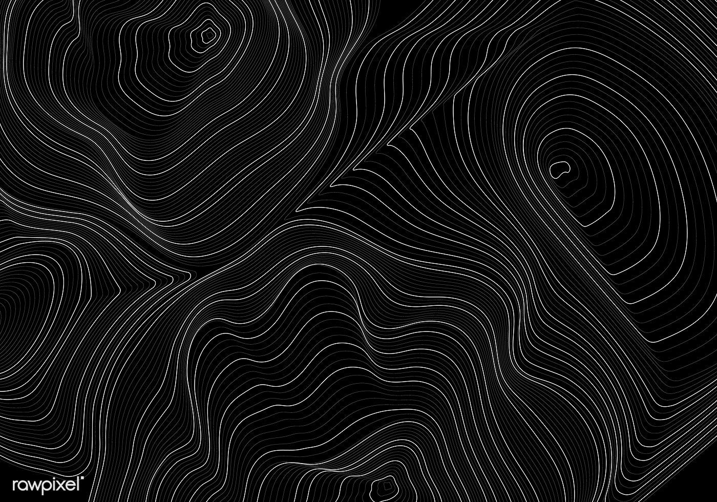 Black and white abstract map contour lines background free image by rawpixel com aew