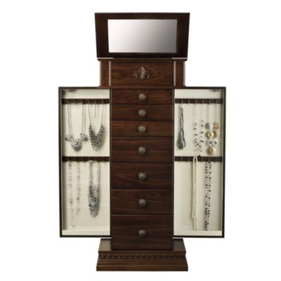 FREE SHIPPING AVAILABLE Buy Monet Jewelry Chestnut Jewelry Armoire
