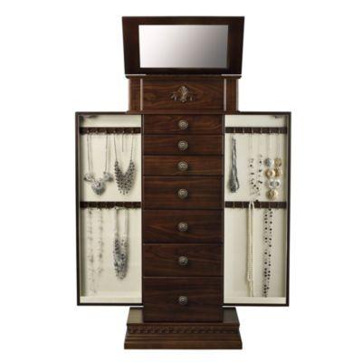 Chestnut Jewelry Armoire Monet jewelry