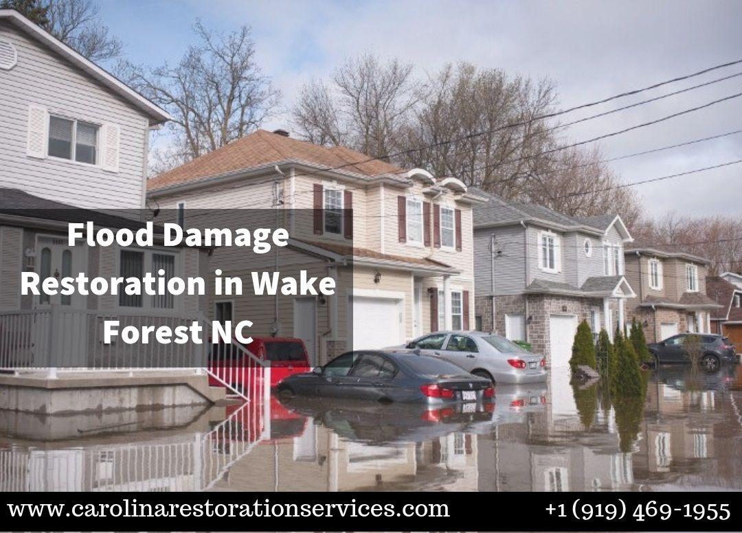 Flood damage restoration wake forest nc damage