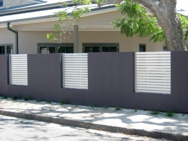 exterieur sichtschutzzaun design elegant grau wei. Black Bedroom Furniture Sets. Home Design Ideas