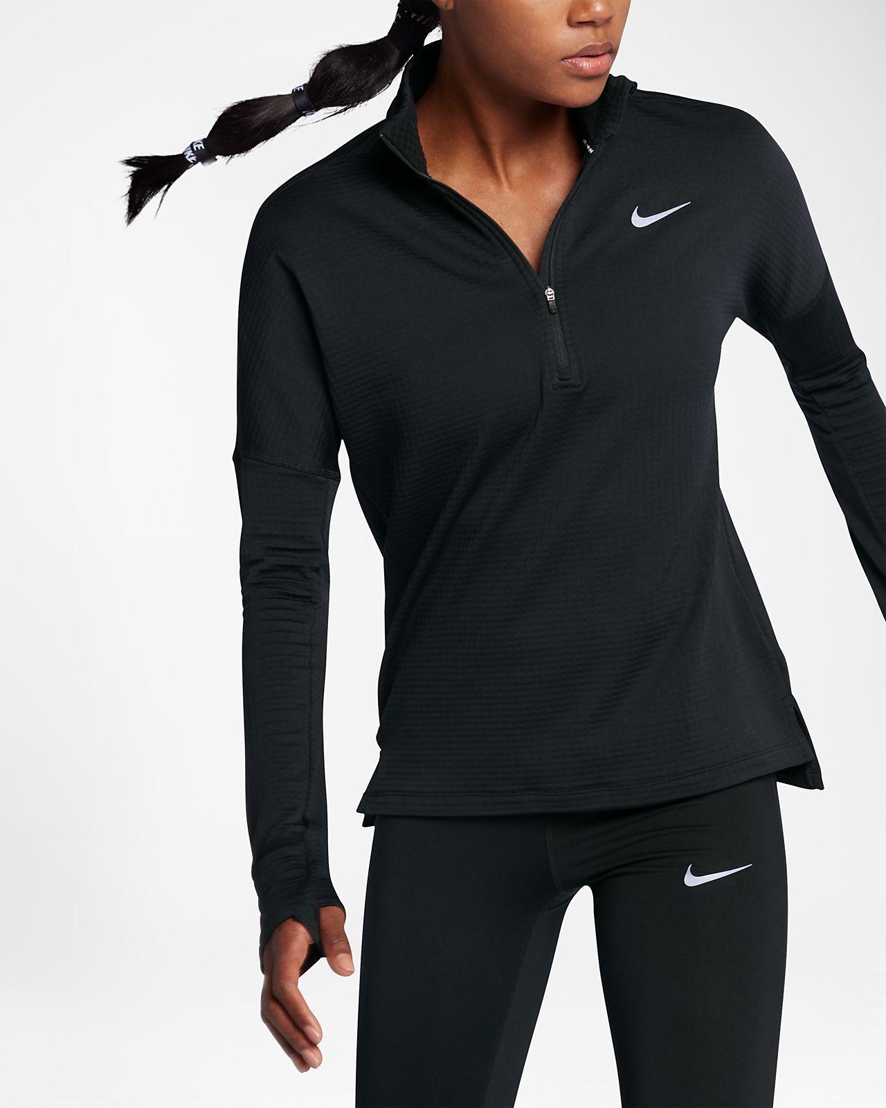 Haut de running à manches longues demi-zippé Nike Therma Sphere Element  pour Femme 5511cd009df1