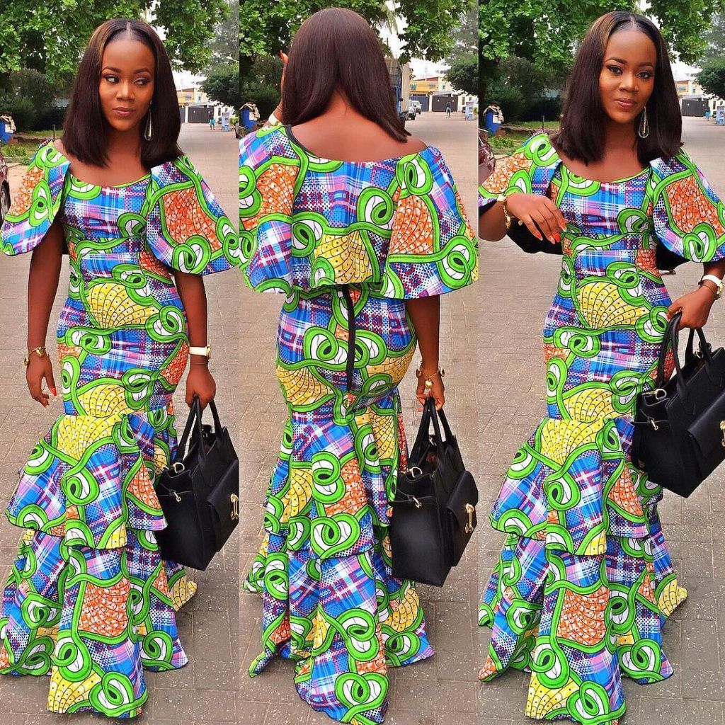 Ankara fabric continues to maintain a trend we just canut help but