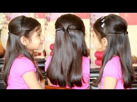 Party Hairstyle With Missanand Easy Little Girl Hairstyles Hair Styles Easy Hairstyles