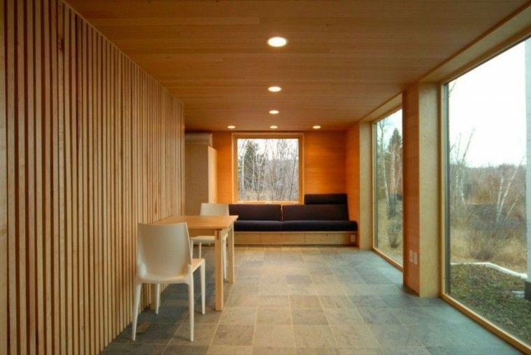 Techos de madera cincuenta ideas modernas tumbados - Revestimiento de techos ...