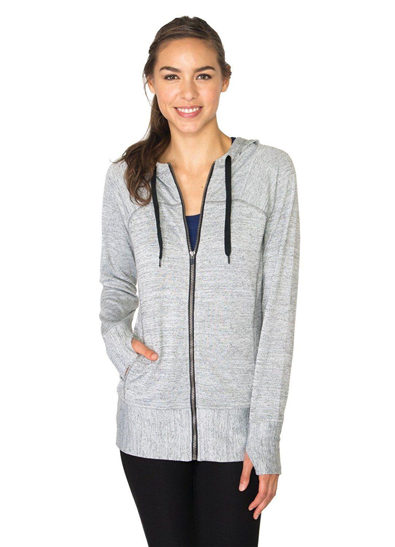 RBX Active Women's Lightweight Sweater Zip Hoodie Jacket with ...