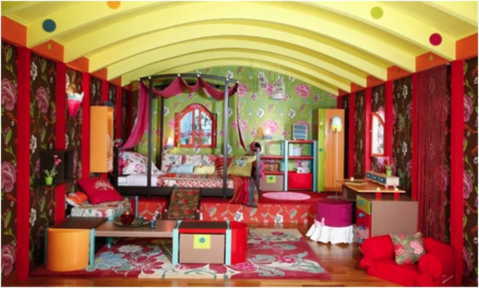 Genial Colorful Ideas For Decorating Girls Bedrooms, Gypsy Decoration Style