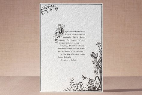 Like the fairytale lettering  Storybook Letterpress Wedding Invitations by Jody Wody at minted.com