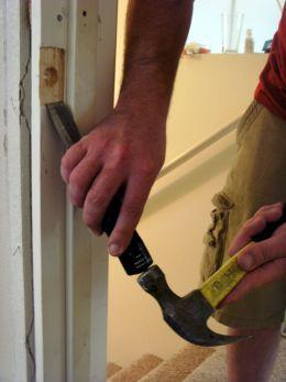 how to fix or replace a broken door frame