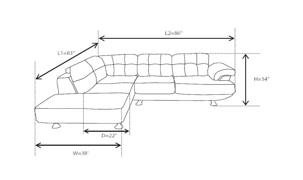 L Sofa Size Di 2020
