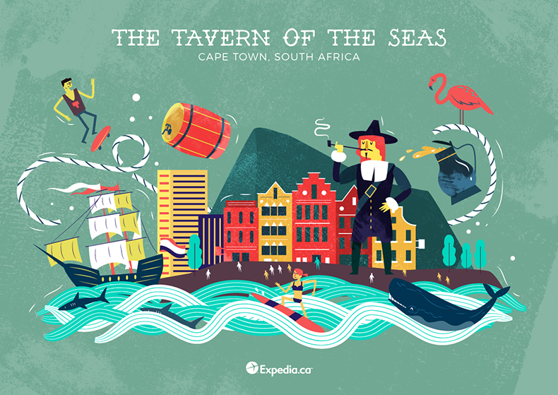 :::City nicknames from around the world illustrated by ...